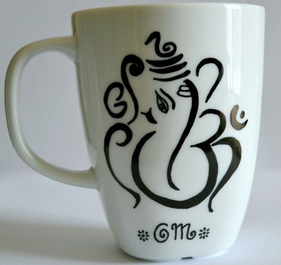 Ganesh Ohm Coffee Mug Ganesha Aum Tea Cup Om by DreamAndCraft, $15.00