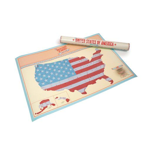 Luckies of London The United States of America Scratch Map (USLUKUS) Kids can scratch off each state that they visit.