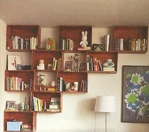 Modern bookshelves by High Fashion Home, via Flickr