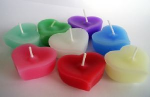 10 Heart Floating Candles in a Colour of your Choice