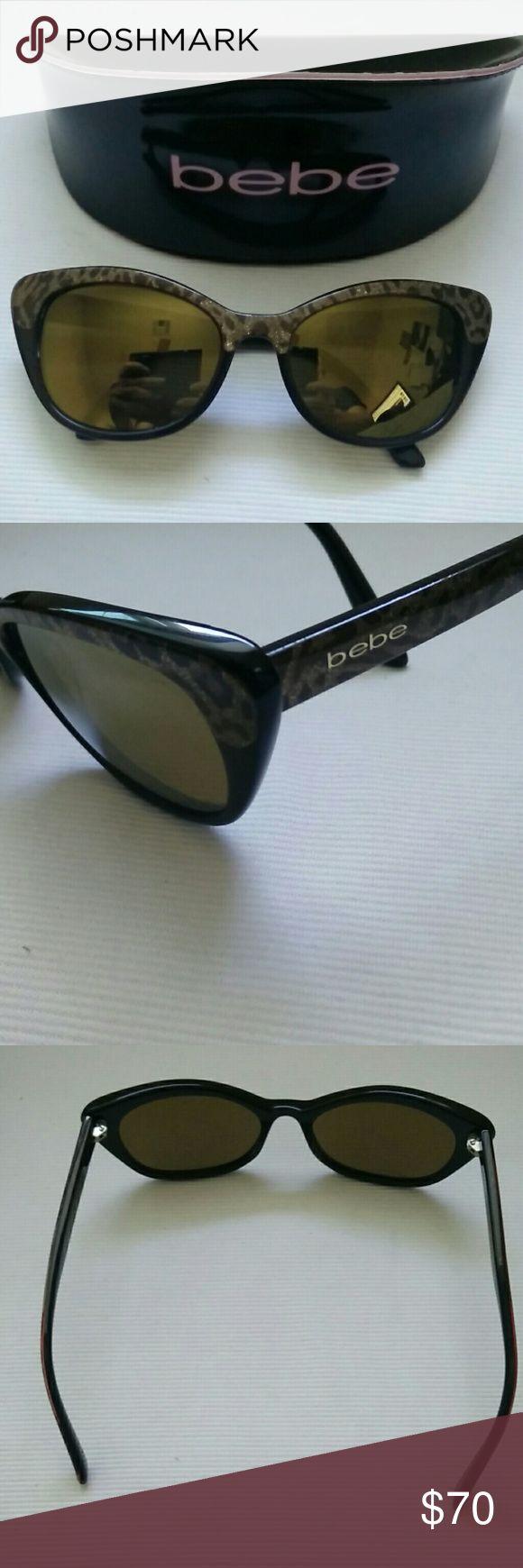 Bebe Women's Sunglass Bebe Women's Sunglass, Gold Mirror lens, gold flake tortoise color. bebe Accessories Sunglasses
