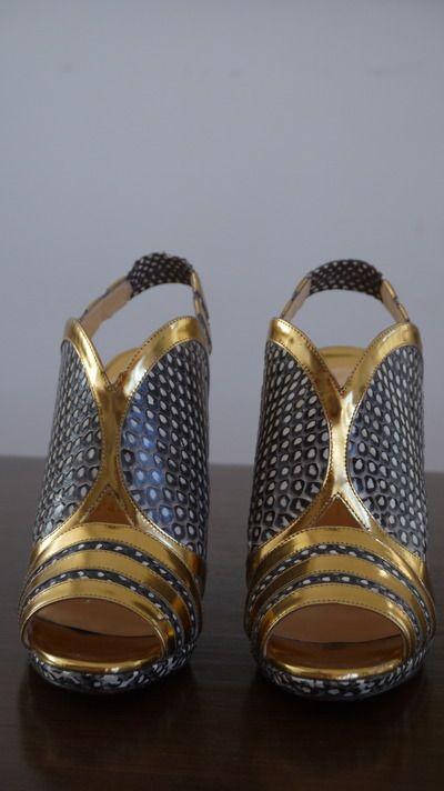 Amazing Christian Louboutin slingback heel, pristine condition, worn once, originally $795.