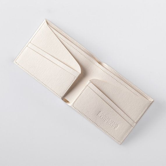 Minimalist Super-Thin Washable Paper Bi-Fold Wallet in Riambel White / Vegan…