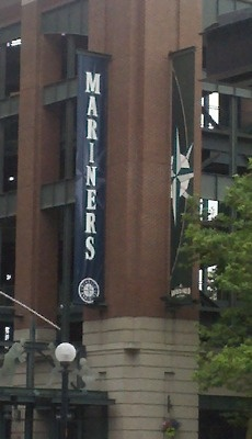 Safeco Field -- KingDome's under this, and my grandfather's chemical lab is under that!