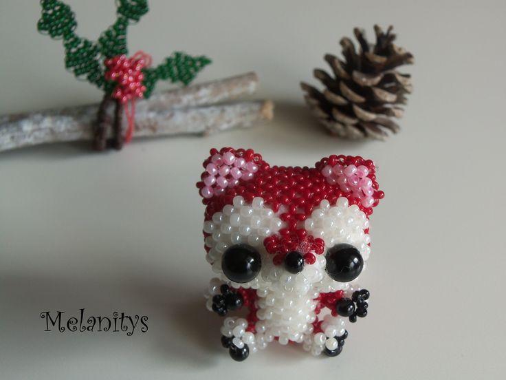 Un beau renard, du livre Miniatures en perles tellement kawaii.