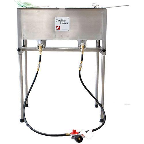 Carolina cooker stainless steel 2 burner fryer fish for Outdoor fish fryers propane