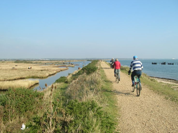 Cycling on Solent Way