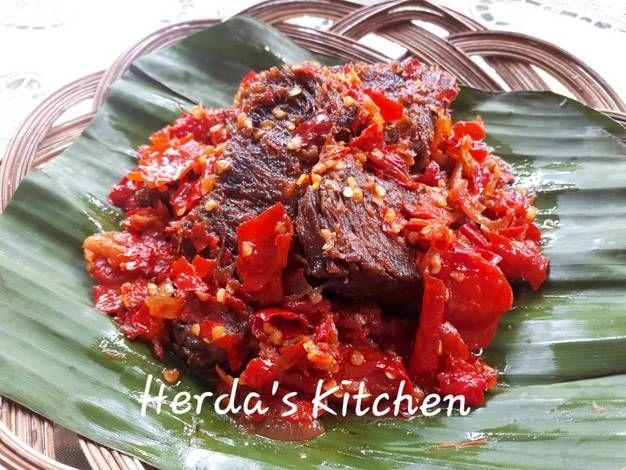 Resep Dendeng Balado Basah Khas Minang Oleh Herda S Kitchen Resep Di 2020 Dendeng Resep Resep Daging Sapi