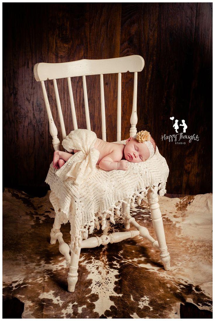 Cute Cowgirl/Western Newborn Baby Girl Photography