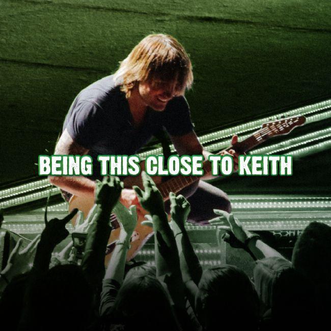 Having good luck is ... Accomplish this at Keith Urban's ripCORD tour: