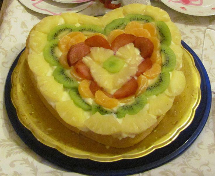 Fruit heart cake - Crostata cuore di frutta