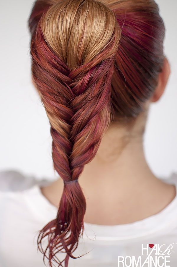 Hair Romance's fishtail braid for wet hair. Need some gel ...