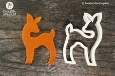 Standing Baby Deer Cookie Cutter All hail Bambi - the prince of the forest! This delightful deer cookie cutter is perfect for kids' birthday parties, springtime garden parties, and even Disney movie marathons.