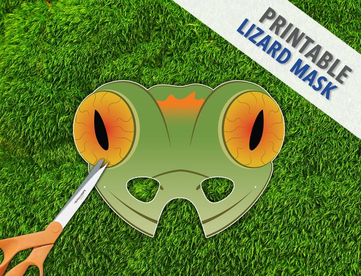 Lizard Mask Gecko Lizard Mask Reptile Party Mask by theRasilisk, $3.99