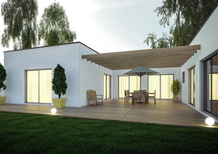 Erweiterung des Designhauses mit Pergola und Terrasse ...
