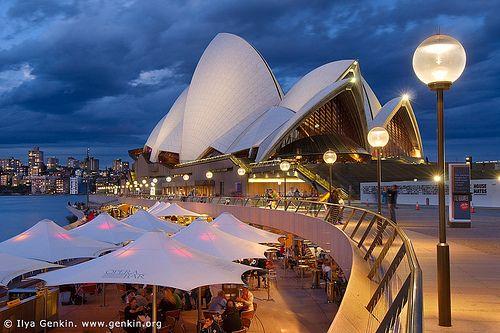 Friday Evening at Sydney Opera House, Sydney, NSW, Australia