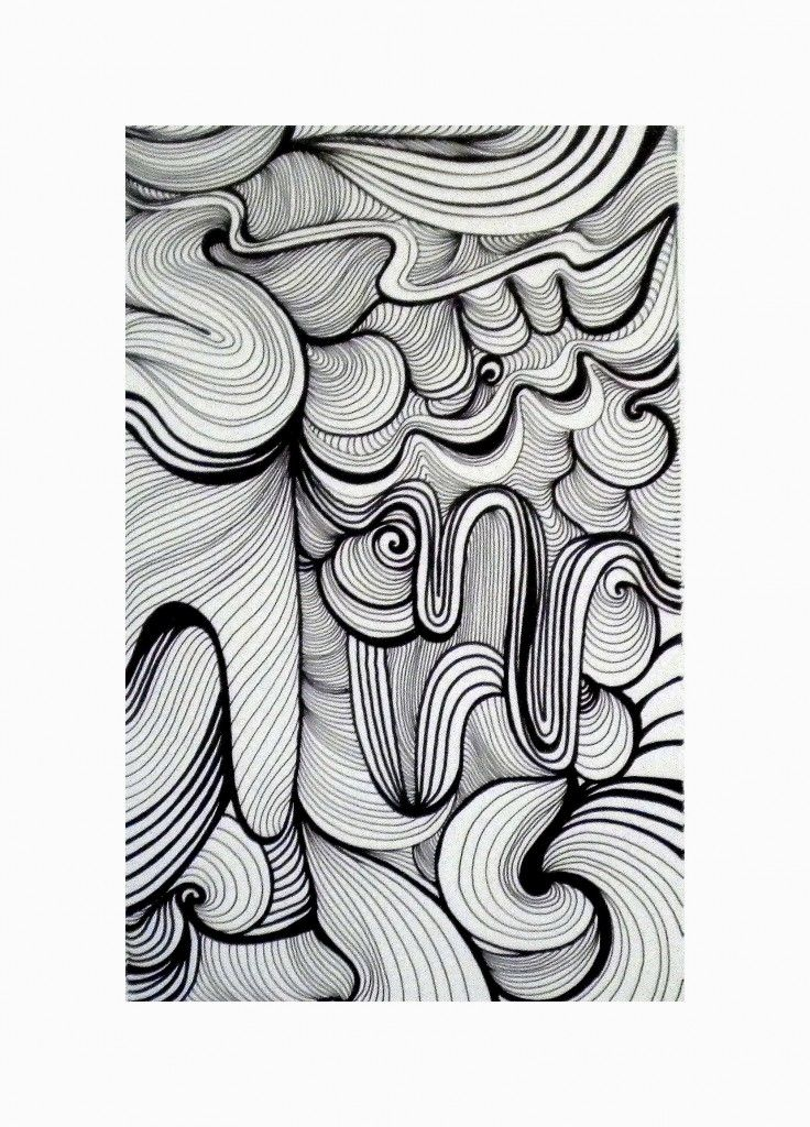 curved line zentangle - pinned with Mitchell in mind :)