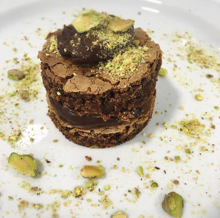 Brownie de pistachos