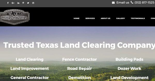 Philips Industries - Texas Land Clearing Company New Website  #PhillipsIndustriesJunctionTX #TexasLandClearingCompany #LandDevelopmentServicesGA #TexasFenceContractor  https://www.phillipsindustries.com/phillips-industries-new-website/