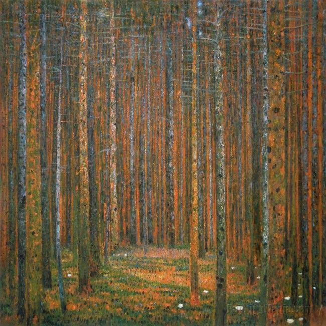 Tannenwald I (Pine Forest I) - Gustav Klimt oil painting