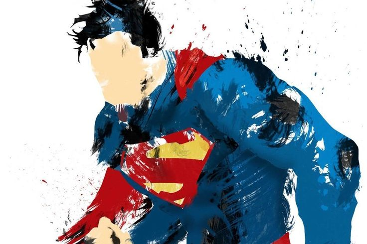 "SUPERMAN ARTWORK SUPERHERO ABSTRACT POSTER SUPERIOR SATIN CANVAS SIZE 20"" X 30"" in Art, Canvas/ Giclee Prints 