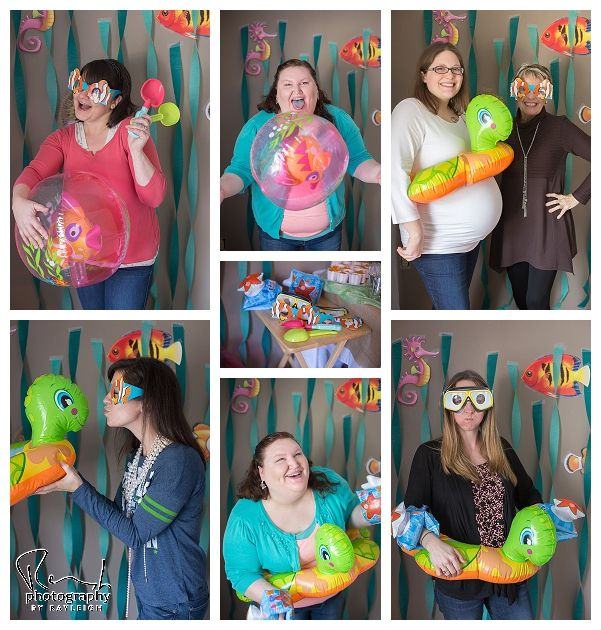 use rings and beach balls as photo booth props