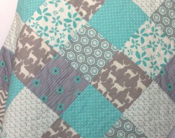 Baby Quilt Rustic Baby Quilt Woodland Baby Quilt by CoolSpool