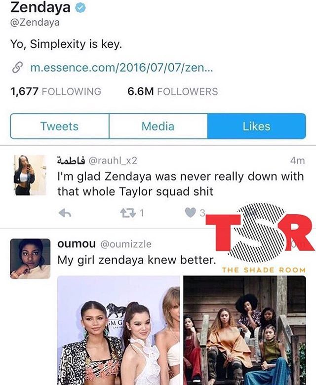 Pin for Later: Katy Perry, Chloë Grace Moretz, and More React to Taylor Swift's Feud With Kim Kardashian Zendaya