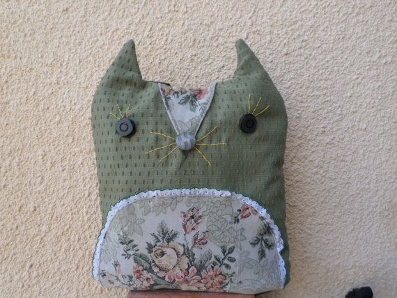 Fox Backpack Handmade green fox bag by MariasHappyThoughts on Etsy