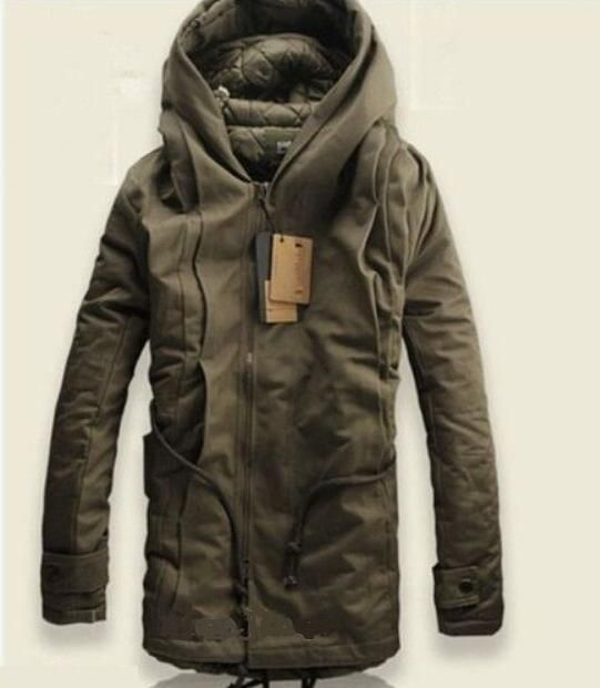 Details about NEW Winter Mens Military Trench Coat Ski Jacket Hooded Parka Thick…