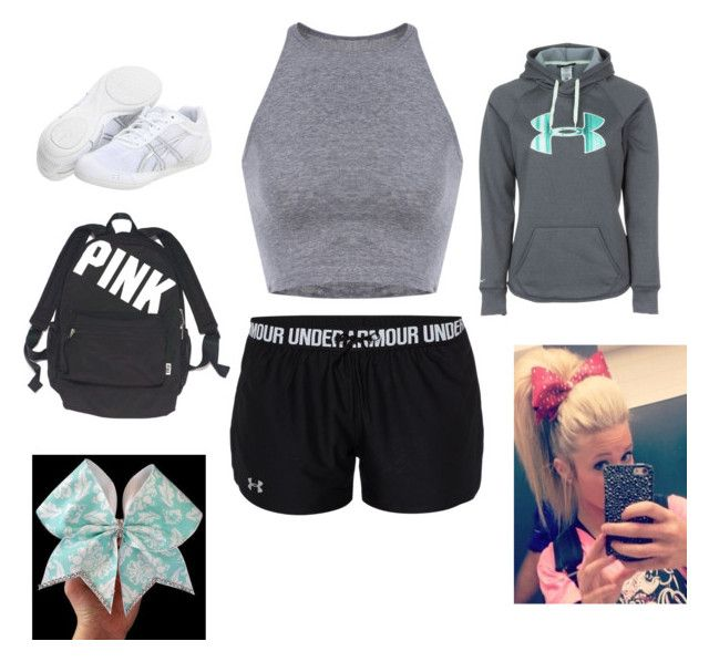"""Cheer practice"" by dlparker on Polyvore featuring Under Armour, Asics and Victoria's Secret"