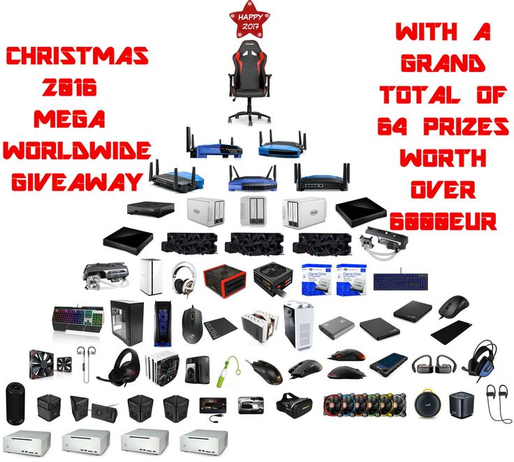 Christmas 2016 Mega Worldwide Giveaway - 64 Prizes Up For Grabs Worth Over 6000Eur