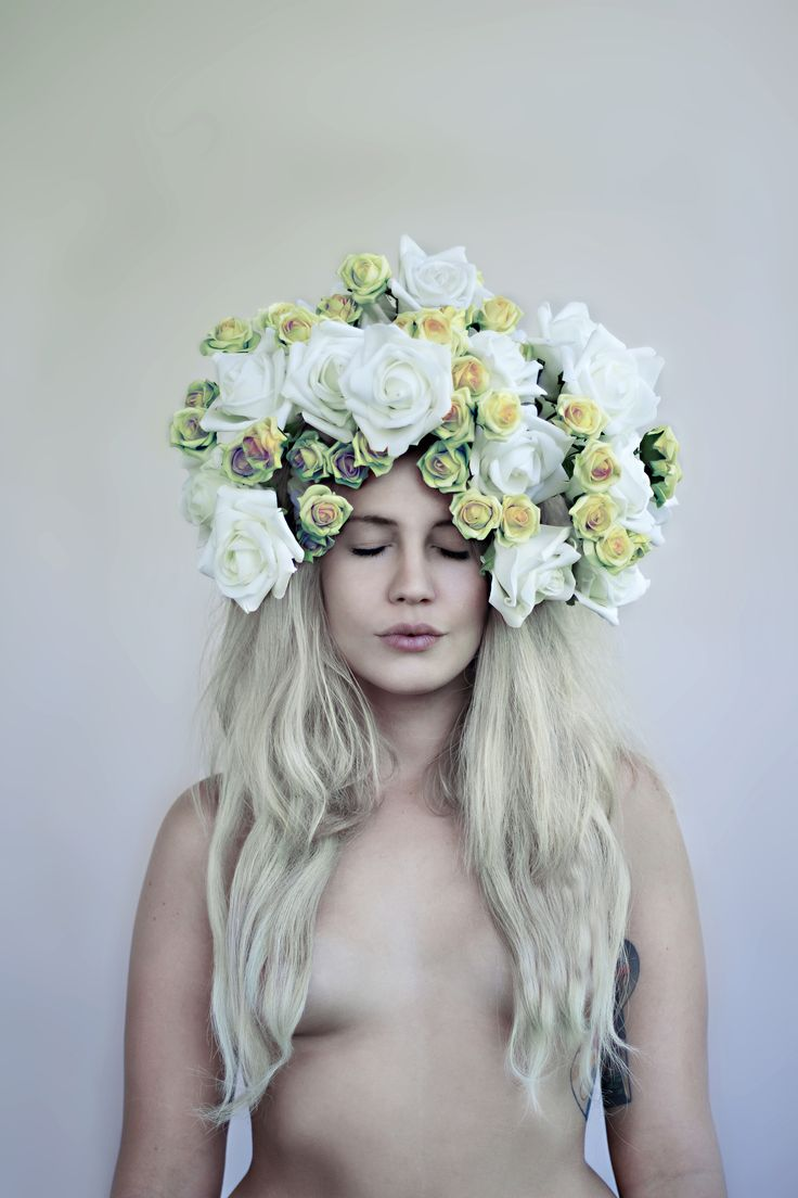 """Photograph from my photo-set """"MULTiVERSE"""".  © Alice Gimmelli Photography 2014 Model is Micol Minnetti. www.facebook.com/alicegimmelliphotography #surreal #photography #girl #flowers #naked #blonde #hair #nature #beautiful #roses #natural #beauty #model"""