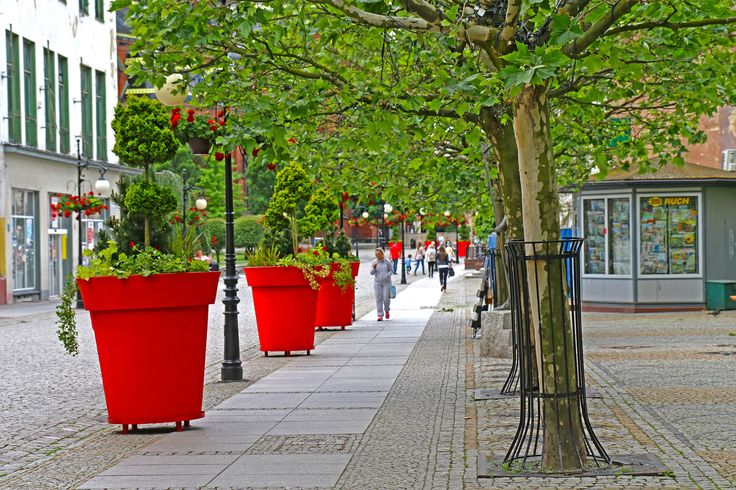 Natura vs smog. Kto wygra walkę o powietrze w miastach?   flower pots gianto by terraform, nature decor for cities, poland