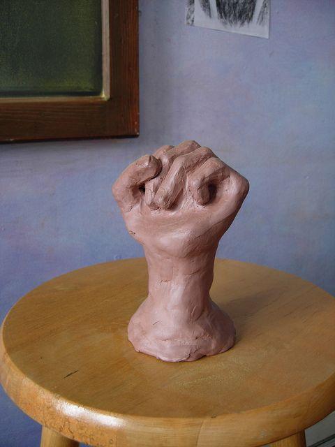 Waldorf ~ 8th grade ~ Human Anatomy ~ History ~ Revolutions ~ clay model