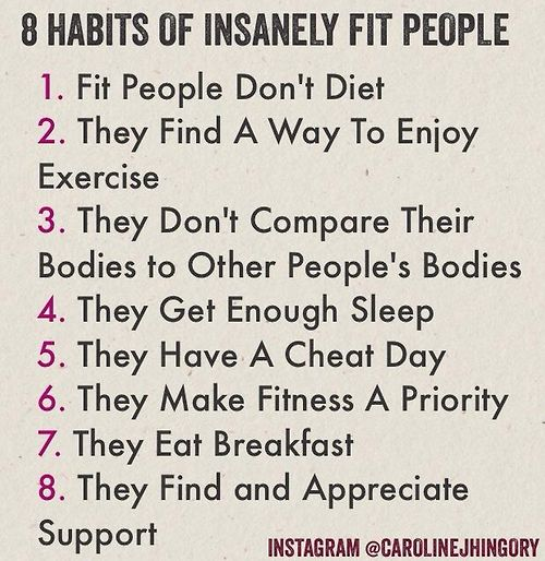 8 habits of insanely fit people