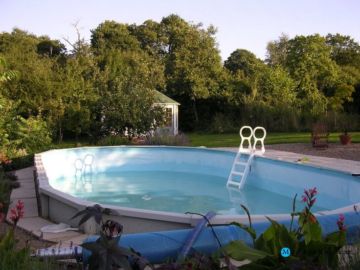 177 best images about swiming pool on pinterest above ground pool liners pool ladder and pools - Above ground pool steps wood ...