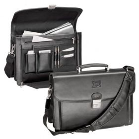 Promotional Products Ideas That Work: The attorney - leather computer briefcase . Get yours at www.luscangroup.com