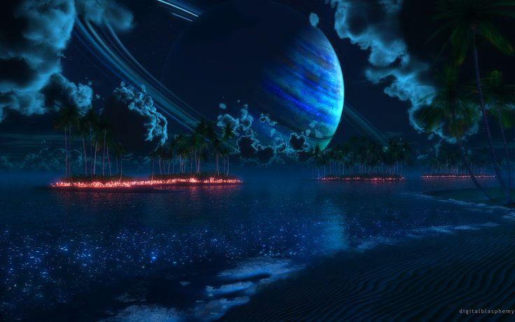 Thetis Tropic Night ... Digital Blasphemy ... 2880 x 1800 ... 7.62MB