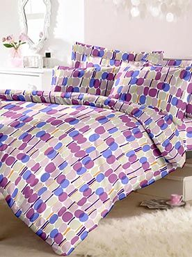If a basic, clean look is what you favour, then this set of double bedsheet and two pillow covers is what you need. The complimenting colours in set in a neat and simple pattern makes this bedsheet set compatible with any kind of bedroom. You have a perfect gift item, too! Our top-quality bed products offer the best fabrics. The colours are long-lasting and fabric will resist wear and tear even with multiple washes. You will have the best kind of rest! Info