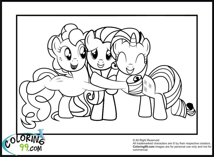 rarity+fluttershy+and+pinkie+pie+coloring+pages.jpg (1500×1100)