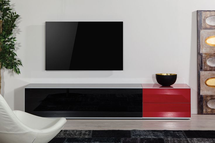 Siyah kumaş kapaklı şık görünüm  (hoparlörler için kullanılabilinir.)  kırmızı çekmece ek ünite .