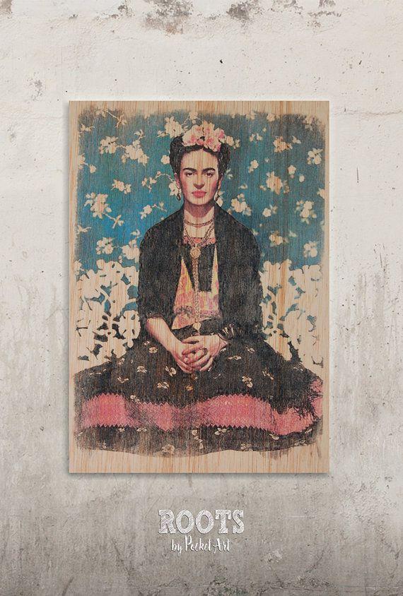 Frida Kahlo - Vogue portada // Transfer on wood