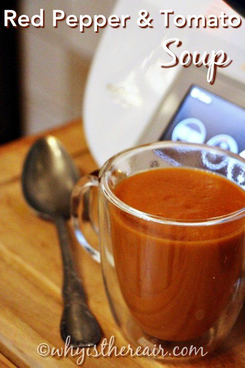 #Thermomix Red Pepper and Tomato Soup from Madame Thermomix