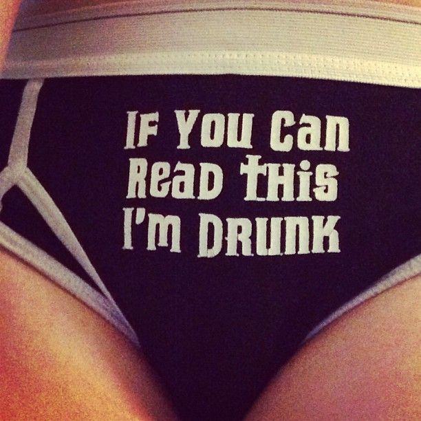 Als je dit kunt lezen ben ik dronken...