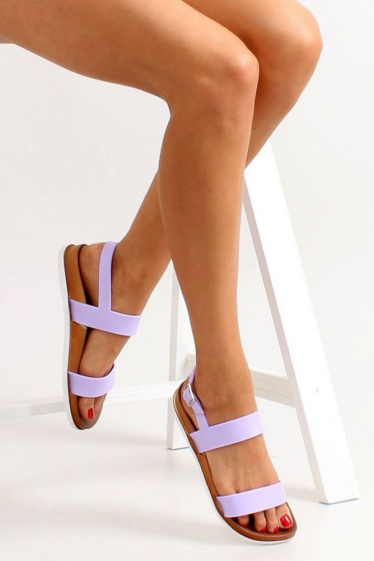 Outbreak Lila Sandals, metallic buckle, with straps, insole material: fabric textil