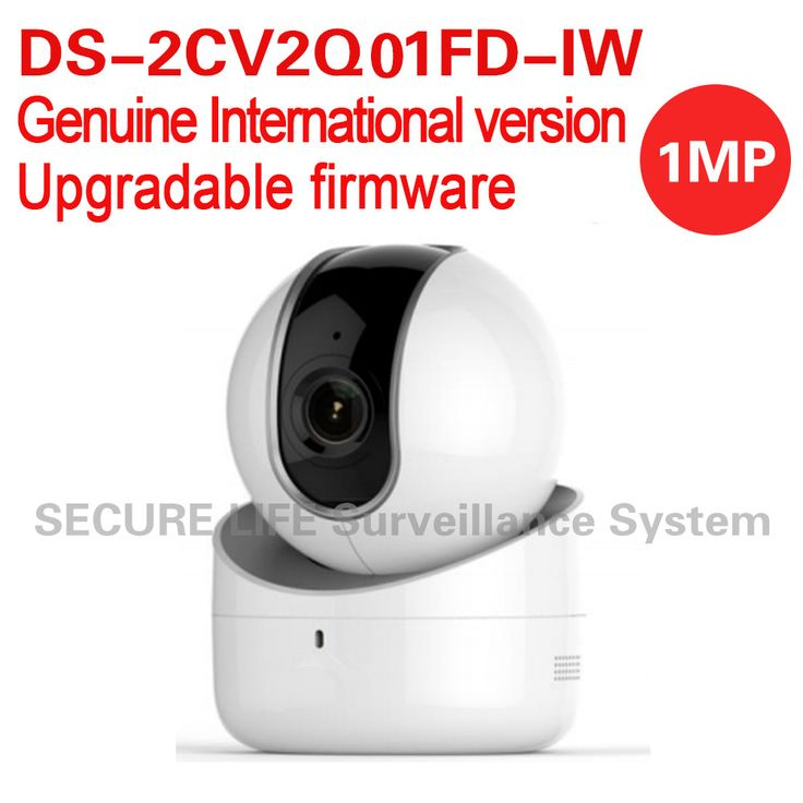 Free shipping DS-2CV2Q01FD-IW English version 1MP 5M IR dome IP CCTV PT Camera wifi, built-in mic speaker two-way audio