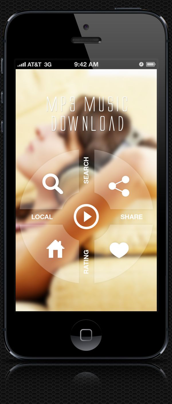It's all about the blur... New Music App by Amit Rai, via Behance
