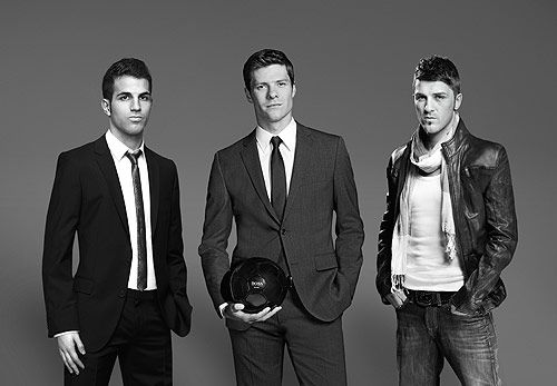 Hugo Boss loves footballers: Spain  Cesc Fabregas, Xabi Alonso, David Villa