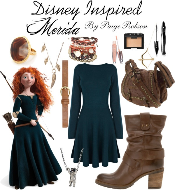 """""""Disney Inspired: Merida"""" by paige-robson ❤ liked on Polyvore"""